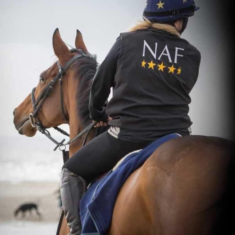 NAF jaket + horse and rider